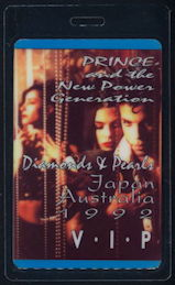 ##MUSICBP0274 - Uncommon Laminated OTTO Prince Backstage Pass from the 1992 Diamonds & Pearls Australia/Japan Tour