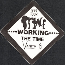 ##MUSICBP0018  - Prince with The Time and Vanity 6 1999 OTTO Working Backstage Pass