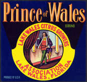 #ZLC290 - Prince of Wales Citrus Crate Label