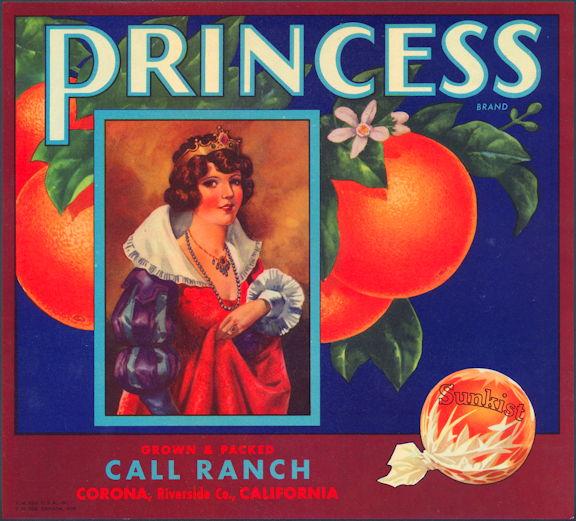 #ZLC108 - Princess Orange Crate Label