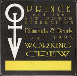 ##MUSICBP0844 - Prince and the New Power Generation OTTO Cloth Working Crew Backstage Pass from the 1992 Diamonds & Pearls Tour