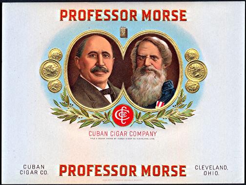 #ZLSC091 - Professor Morse Inner Cigar Box Label