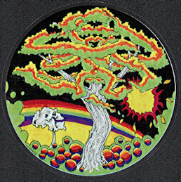 ##MUSICBP2019 - Grateful Dead Car Window Tour Sticker/Decal - Psychedelic Rainbow Tree