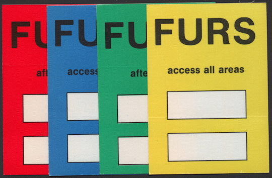 ##MUSICBP0193 - Group of 4 Different Psychedelic Furs Backstage Passes from the 1989 Book of Days Tour