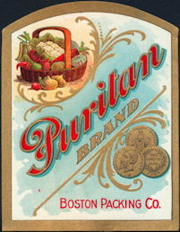#ZBOT006 - Pair of Puritan Food Labels