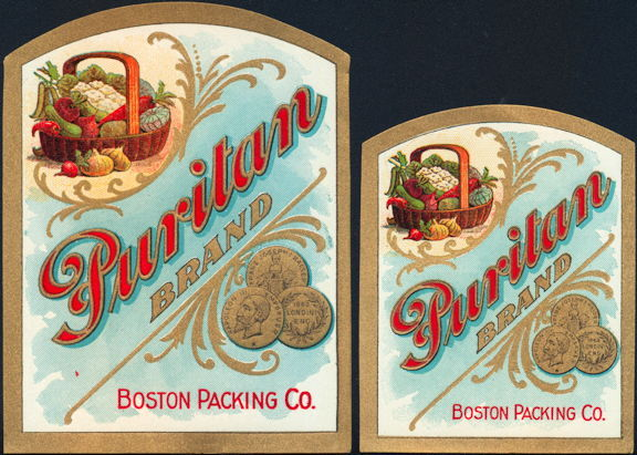 #ZBOT006 - Pair of Puritan Food Labels