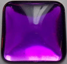 #BEADS0609 - Large 27mm Bright Purple Plastic Cabochon