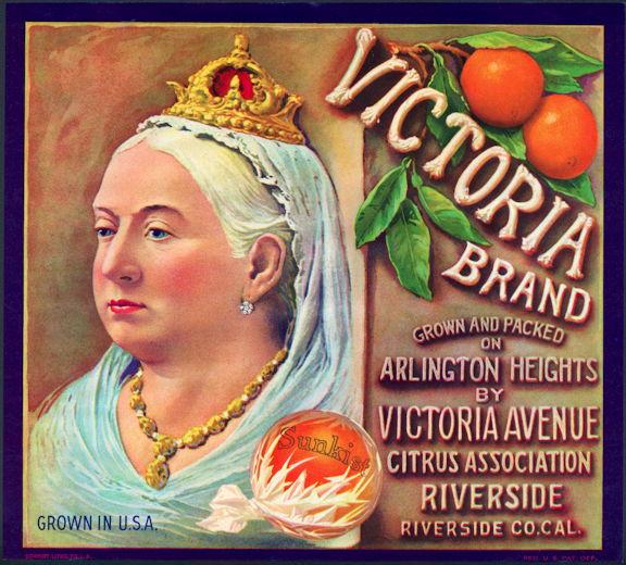 #ZLC090 - Victoria Brand Sunkist Orange Crate Label