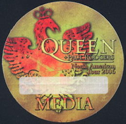 ##MUSICBP0227 - Queen OTTO BackStage Pass from the 2006 North American Tour