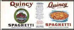 #ZLCA312 - Quincy Spaghetti Can Label - Quincy, MA