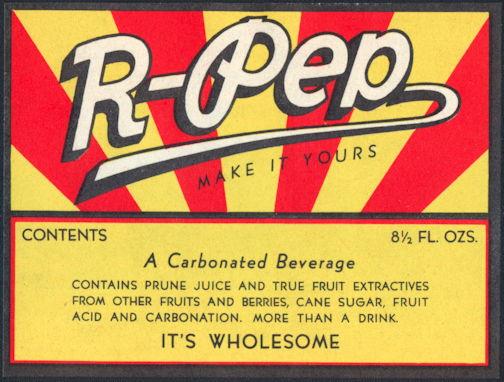 #ZLS193 - R-Pep Soda Bottle Label - As Low as 25¢ each