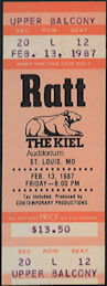 ##MUSICBPT0035 - 1987 Ratt Ticket from St. Louis Concert at Kiel Auditorium