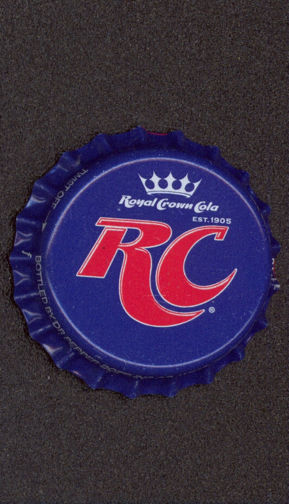 #BC097 - Group of 10 Deep Blue RC (Royal Crown) Cola Plastic Lined Soda Caps