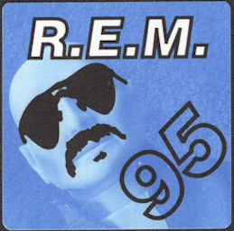 ##MUSICBP0716  - R.E.M. OTTO Cloth Backstage Pass from the 1995 Monster Concert Tour