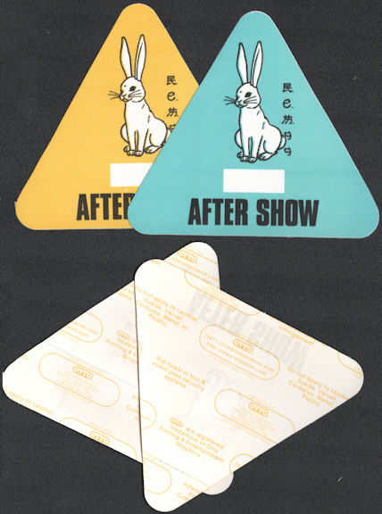 ##MUSICBP0649 - Pair of R.E.M. OTTO Cloth Backstage After Show Passes from the 1999 Up Tour