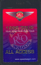 ##MUSICBP0202 - REO Speedwagon OTTO Backstage Pass from the 1998 Tour