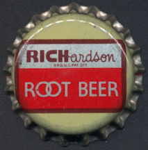 #BC148 - Group of 10 Cork Lined Richardson Root Beer Bottles