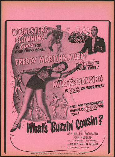 "#CH326-10 - Rochester in ""What's Buzzin' Cousin?"" Movie Poster Broadside"