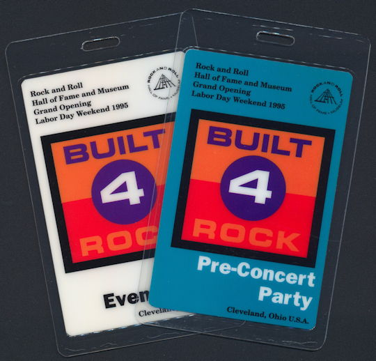 ##MUSICBP0144 - Pair of Laminated OTTO 1995 Rock Hall of Fame Opening Backstage Passes