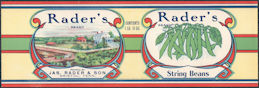 #ZLCA303 - Rader's Brand Tomatoes Can Label - Bristol, Tennessee