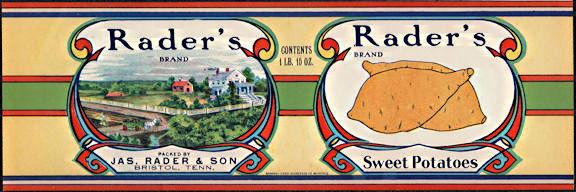 #ZLCA289 - Scarce Large Rader's Sweet Potatoes Can Label
