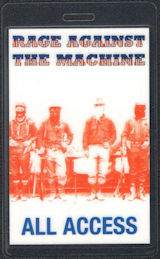 """##MUSICBP0584  - Laminated Rage Against the Machine """"All Access"""" Perri Backstage Pass from the Evil Empire Tour"""