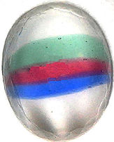 #BEADS0512 - 10mm Glass Moonstone Iris Cabochon with Inner Rainbow Effect - As low as 15¢ each