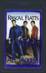 ##MUSICBP0201 - Rascal Flatts OTTO Backstage Pass from the 2002 Melt Tour - as low as $3 each