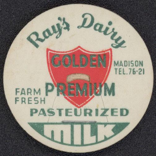 #DC102 - Ray's Dairy Golden Premium Milk Bottle Cap