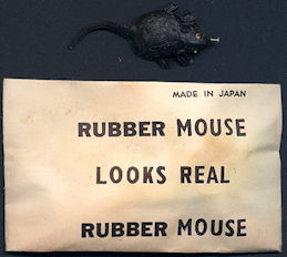 #TY651 - Rubber Mouse Gag in Package - Made in Japan - As low as 50¢ each