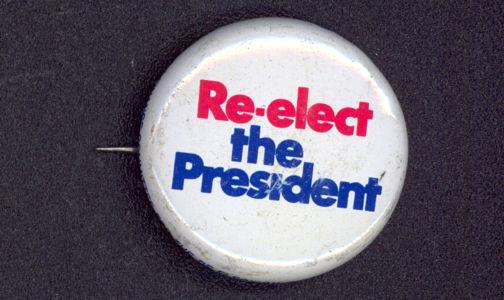 #PL280 - Re-Elect the President Pin - Nixon around the Rim