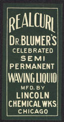 #ZBOT133 - Dr. Blumer's RealCurl Celebrated Semi Permanent Waving Liquid Bottle Label