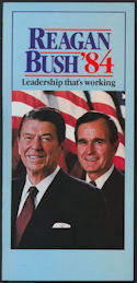 #PL338 - 1984 Reagan Bush Campaign Brochure - Leadership That's Working
