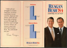 #PL356 - 1984 Reagan Bush Campaign Brochure - Leadership You Can Trust