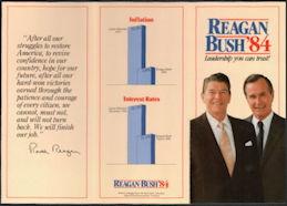 #PL356 - 1984 Reagan Bush Campaign Brochure - Leadership You Can Trust