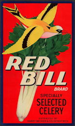 #ZLC005 - Red Bill Celery Crate Label
