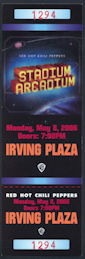 ##MUSICBP0279 - Red Hot Chili Peppers Ticket from the May 8, 2006 Concert at Irving Plaza