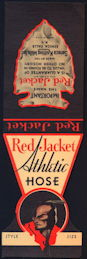 #ZZZ169  - Printer's File Sample of Red Jacket Athletic Hose Header - Indian - Dated WWII Era