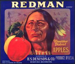 #ZLC423 - Redman Apples Crate Label