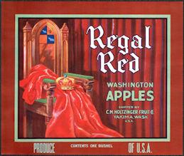 #ZLC453 - Regal Red Washington Apples Crate Label