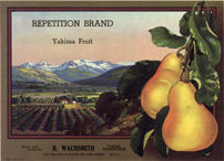 #ZLC230 - Repetition Brand Yakima Pears Crate Label