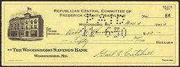 #PL292 - Early 1950s Republican Committee Check