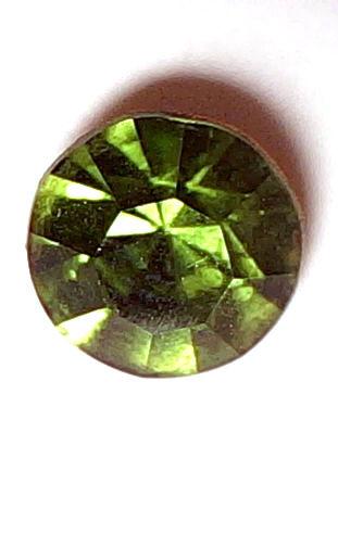 #BEADS0515 - 8mm Olivin Czech Glass Rhinestone - As low as 10¢ each