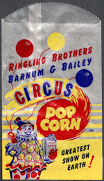 #PC015 - Group of 12 Ringling Brothers Popcorn Bags