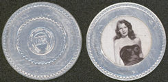 #CH240  - Rare Rita Hayworth Aluminum Poker Chip