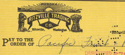 #ZZZ082 - Ritzville Trading Company 1940s Check with Indian Logo