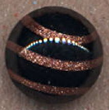#BEADS0773 - 15mm Black and Goldstone Glass Cabochon