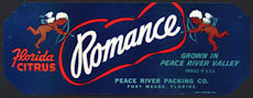 #ZLCA*025 - Romance Florida Citrus Strip Crate Label - Cupids - As low as $1 each