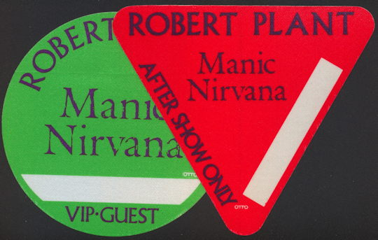 ##MUSICBP0191 - Robert Plant (Led Zeppelin) OTTO Backstage Pass from the 1990 Manic Nirvana Tour - as low as $2.50 each