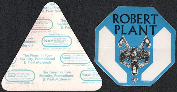 ##MUSICBP0517 - Robert Plant (of Led Zeppelin) Cloth OTTO Backstage Pass from the Now and Zen Tour